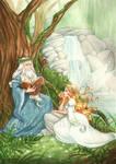 Merlin and Viviane by Chpi