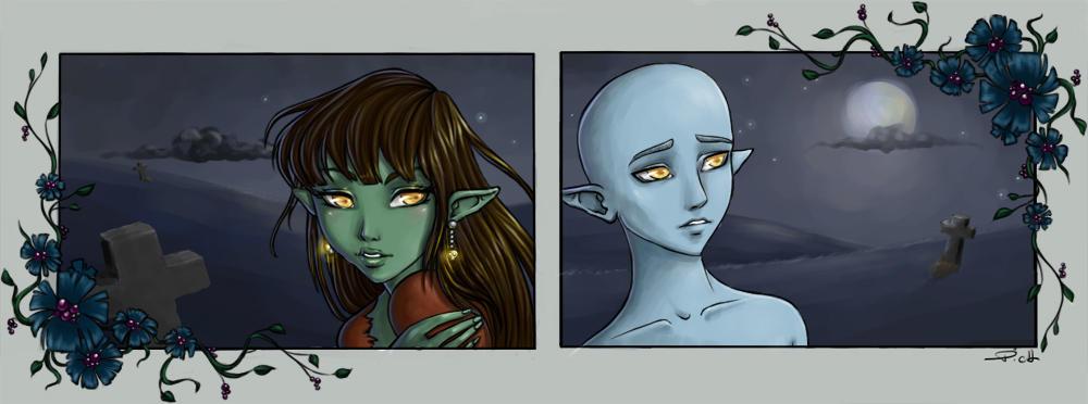 Mandragora and Spooky by Chpi