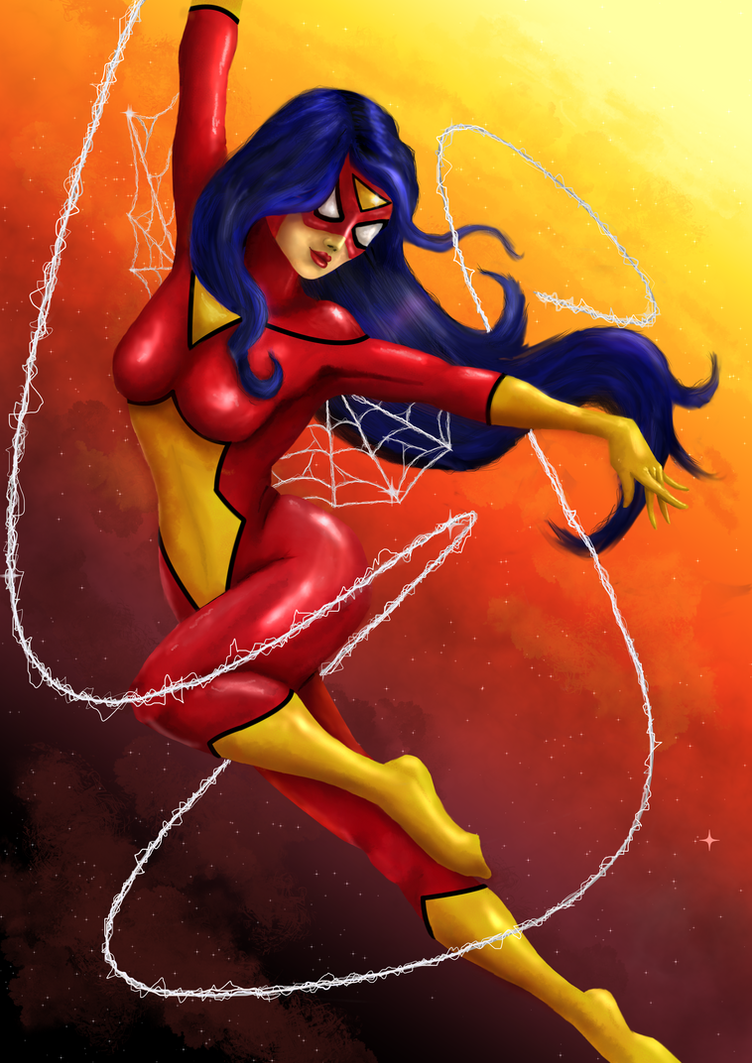 Spider woman (Jesica Drew) by blood083