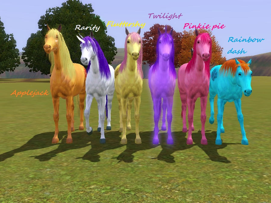 mlp in the sims by cristianthedragoness on deviantart