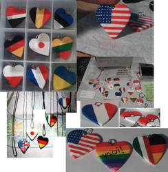 Flag and Poke Ball Hearts by Saint-chan