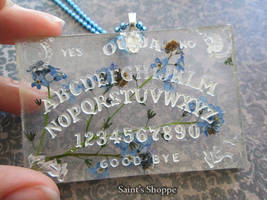 Forget-Me-Not Resin Ouija Board by Saint-chan