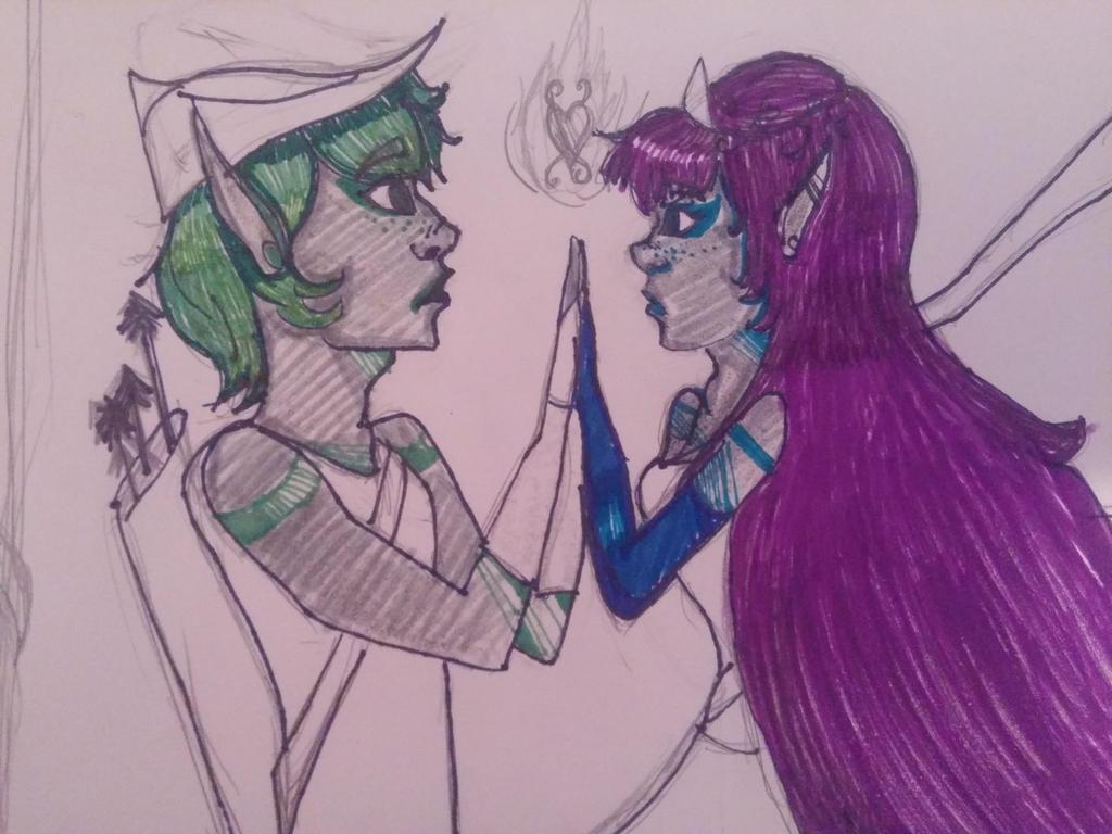 Landon and Freya My OCs  by littlesebbymichaelis