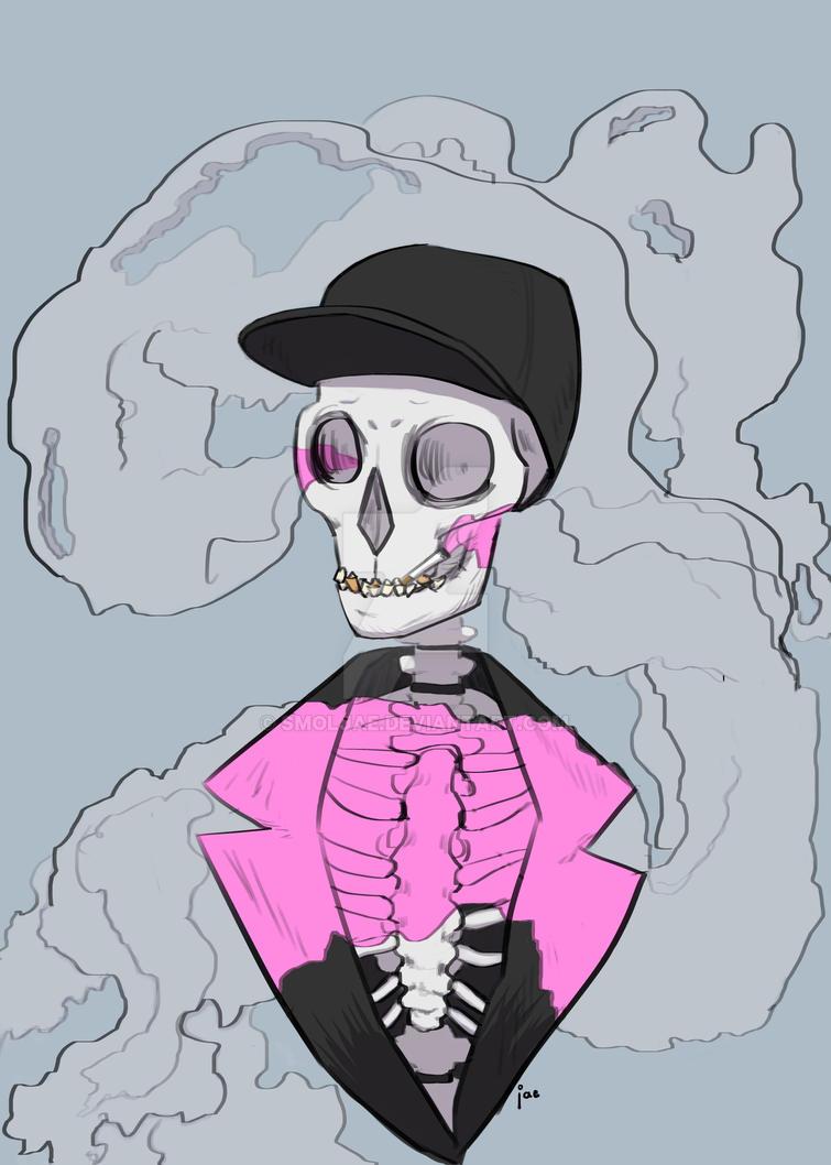 Skull T-Shirt Design by smoljae
