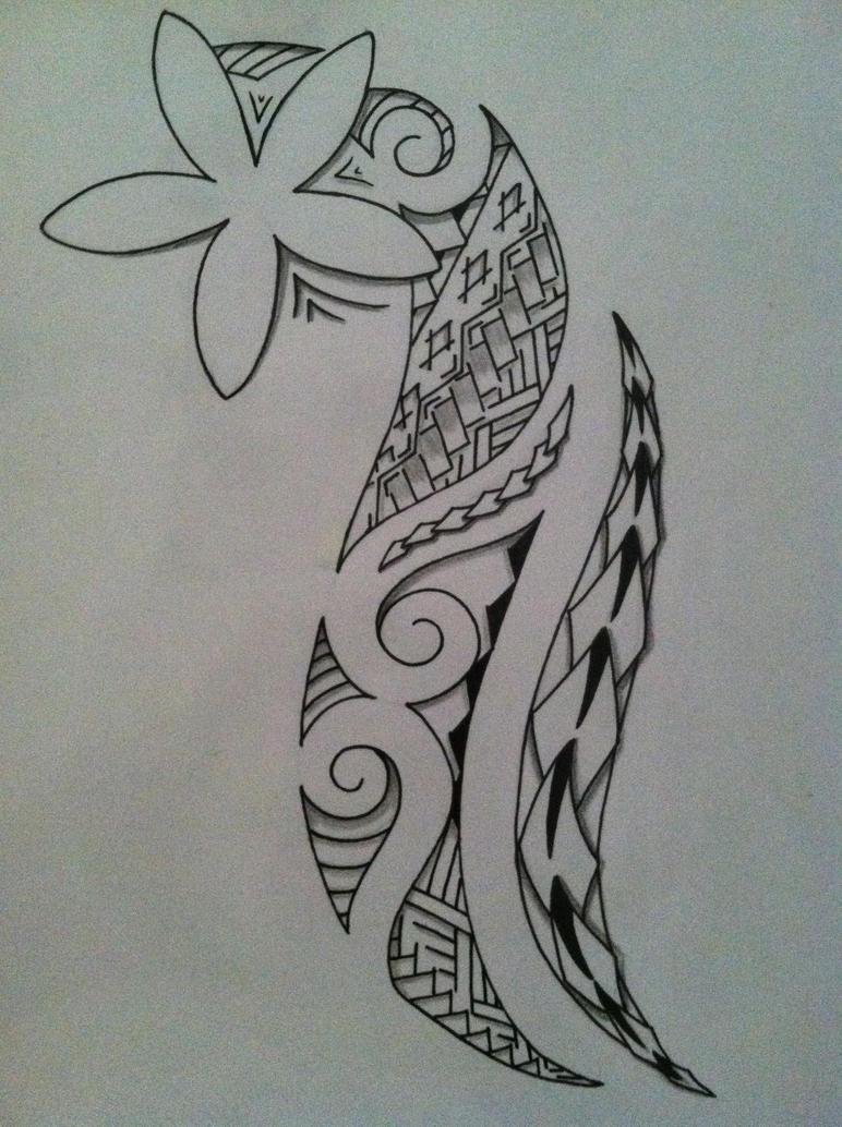 Plumeria Tribal by 808user on DeviantArt