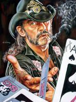 Lemmy Kilmister Motorhead portrait painting poster