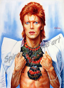 David Bowie portrait painting Ziggy Stardust