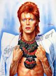 David Bowie portrait painting Ziggy Stardust