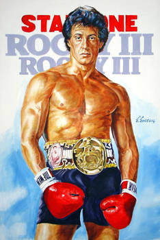 Sylvester Stallone  Rocky Poster Painting
