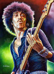Phil lynott Thin Lizzy portrait painting poster