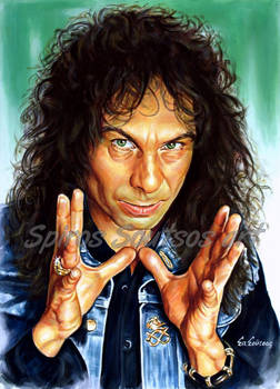 Ronnie James Dio painting portrait poster