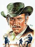 Lee Van Cleef Painting Portrait Movie Poster