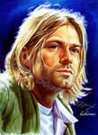 Kurt cobain painting portrait Nirvana poster
