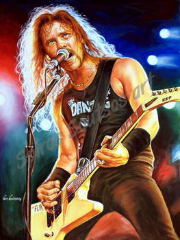 James Hetfield painting portrait metallica