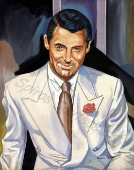 Cary Grant painting portrait poster