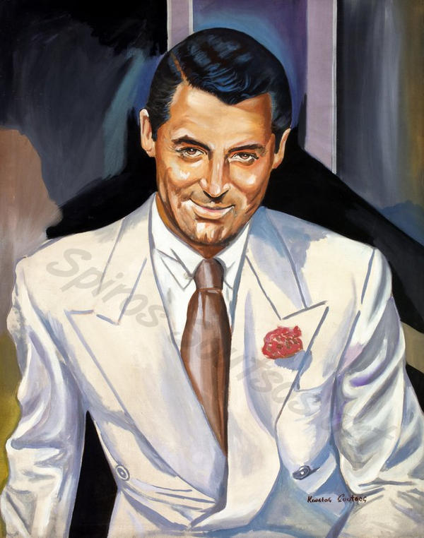 Cary Grant painting portrait poster by SpirosSoutsos
