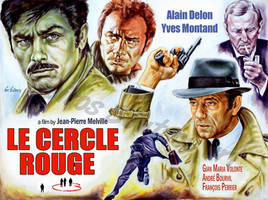 Le cercle rouge painting movie poster
