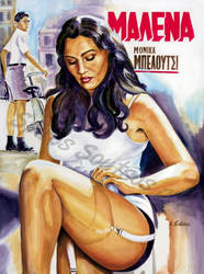 Malena Monica Belluci Movie Poster Painting