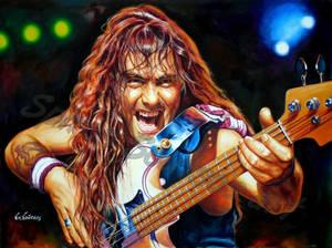 Steve Harris portrait painting iron Maiden poster