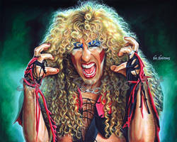 Twisted Sister Dee Snider Painting Portrait Poster