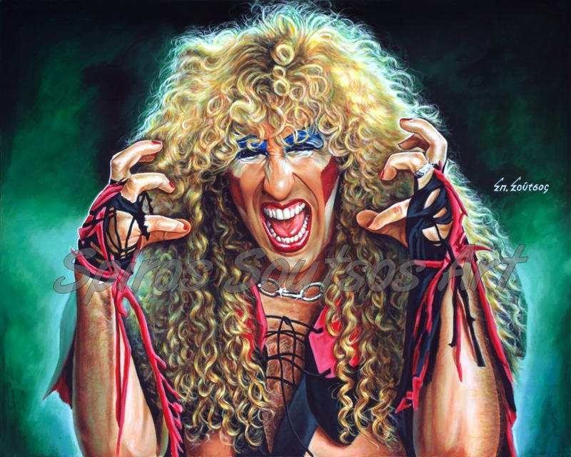 Twisted Sister Dee Snider Painting Portrait Poster by SpirosSoutsos