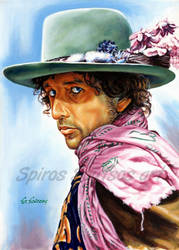 Bob dylan painting poster portrait acrylic poster