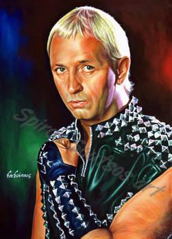 Rob halford judas priest painting poster portrait