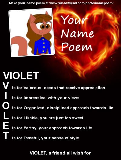 TP - Violet Beauregarde's name poem by pinkiepielover63