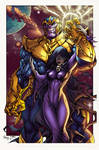 Thanos And Mistress Death By Pant Inked XGX