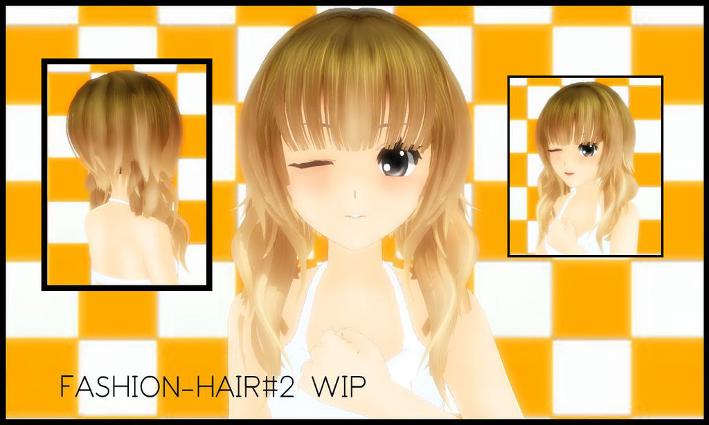MMD-Fashion Hair#2 WIP2 by xNiiiinooo
