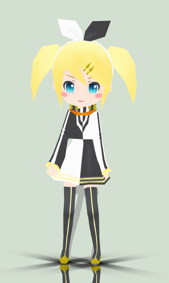MMD-Chibi MeltDown Rin DL by iinoone