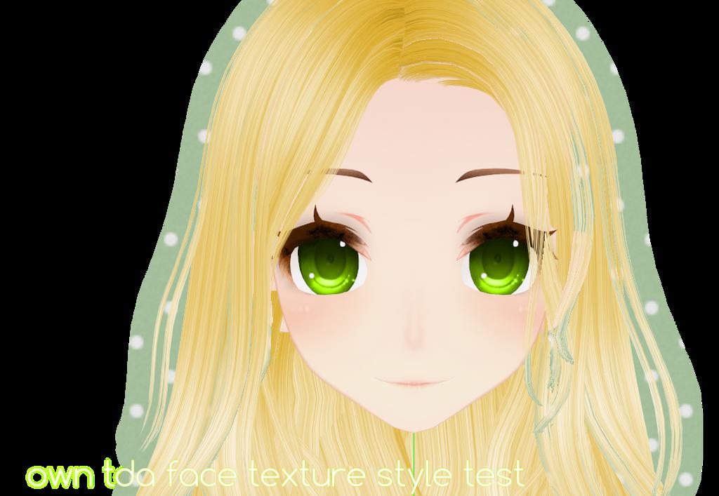 Green hair texture