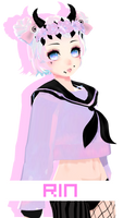 CollobWIP:TDA PASTEL GOTH RIN by ThisisKENZ