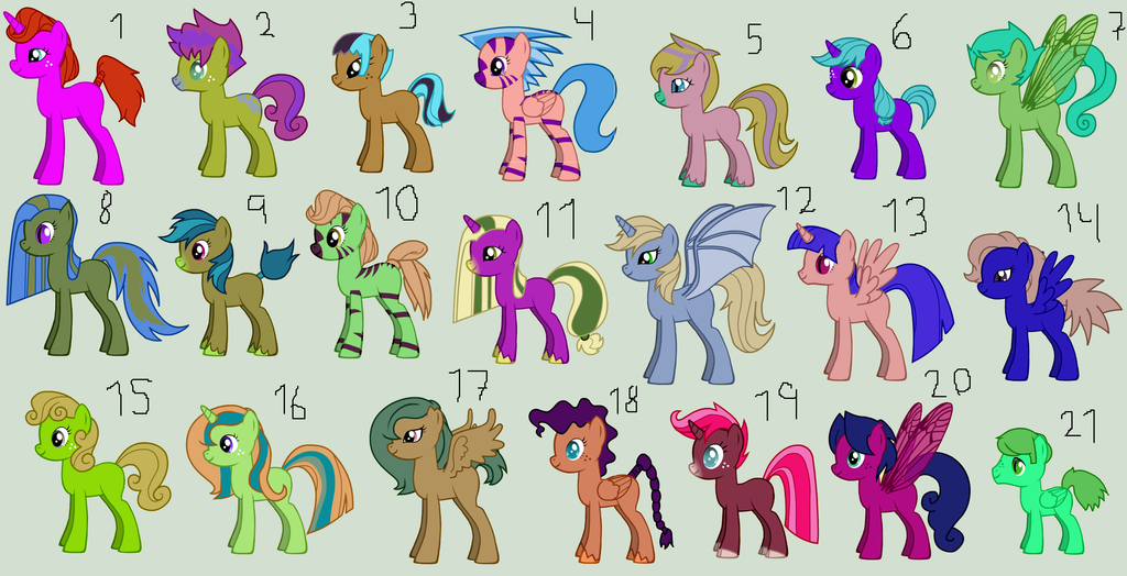 closed free random ponies adopt 6 by bakasyrup on deviantart