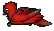Red and Black Finch by Blavi