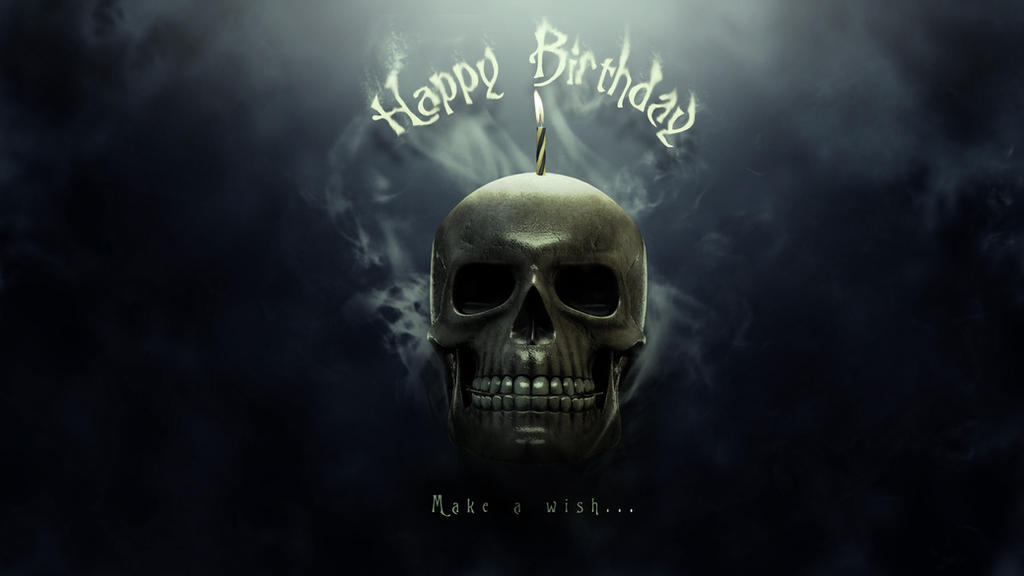 Happy Birthday Skull Wallpaper By Giacko
