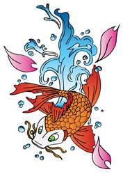 Koi fish COLOURED