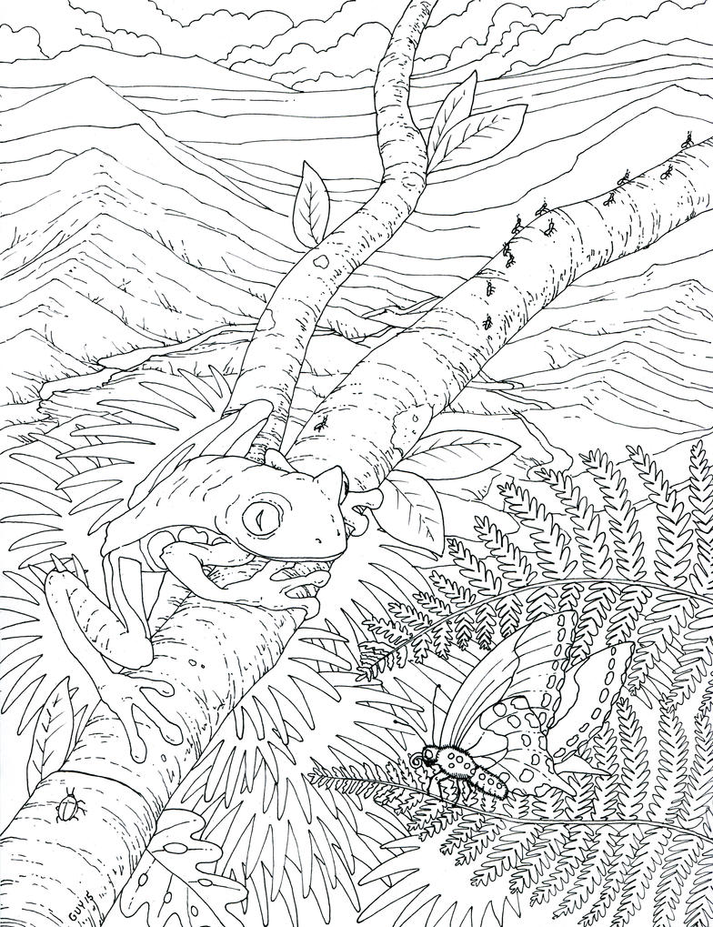 Coloring Book Illustration by Protoguy