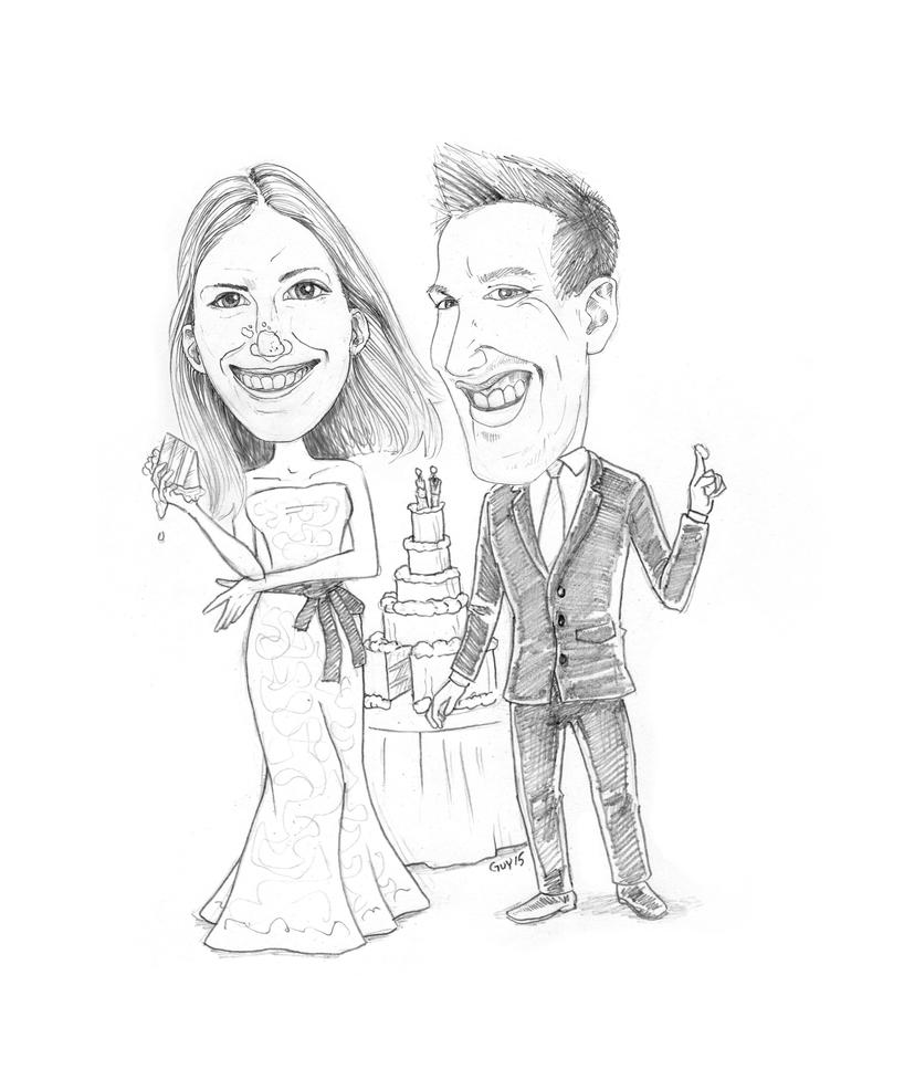 Wedding Caricature by Protoguy