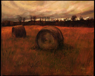 Haybales by Protoguy