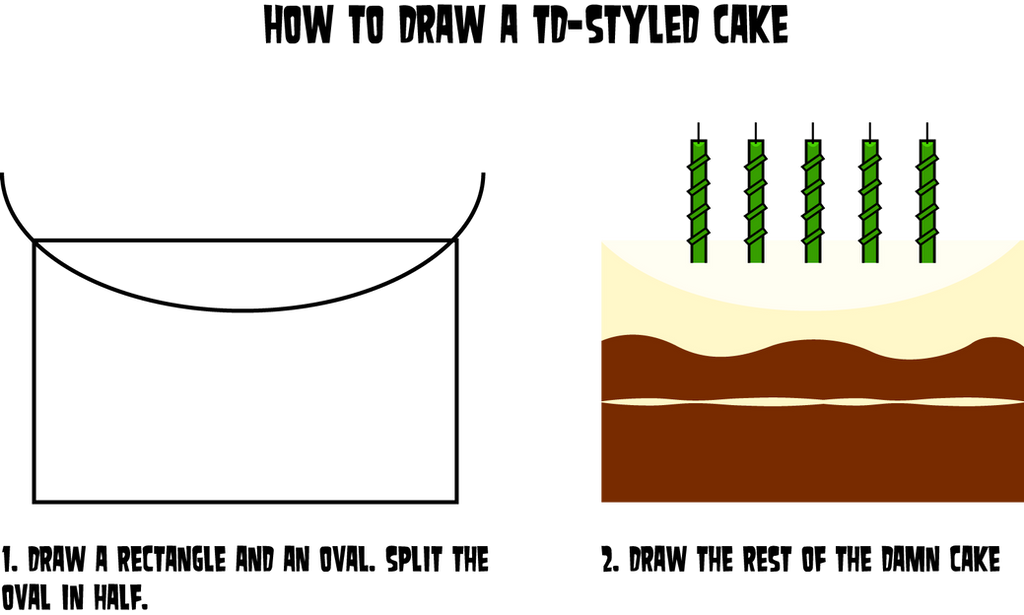 How to Draw a TD-Styled Cake by Flashlight237