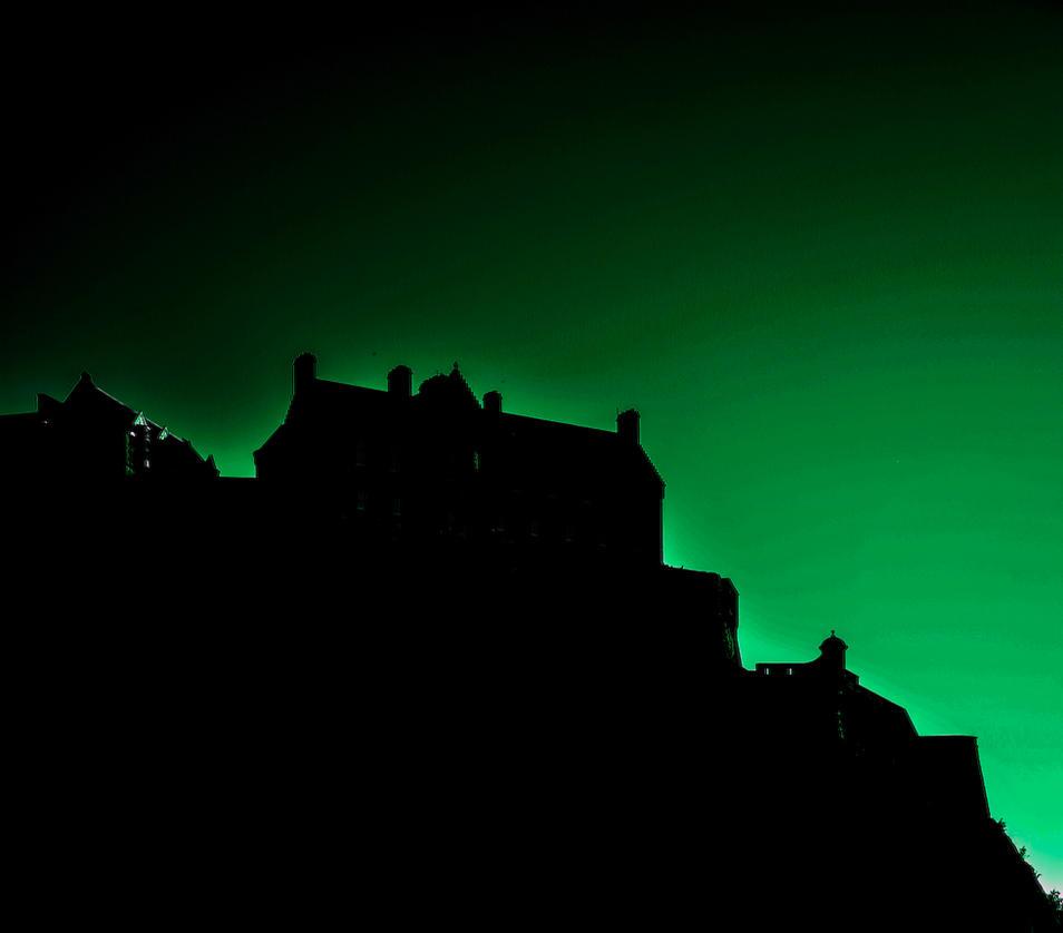 Greens silhouette castle Monja by PhotoXen