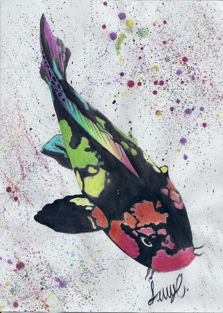 Rainbow koi by spratsanime on deviantart for Rainbow koi fish