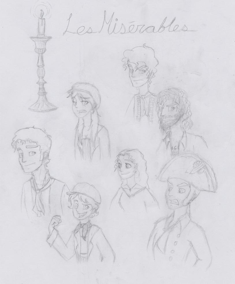 Les miserables doodles by broadwaywolf on deviantart for Les miserables coloring pages