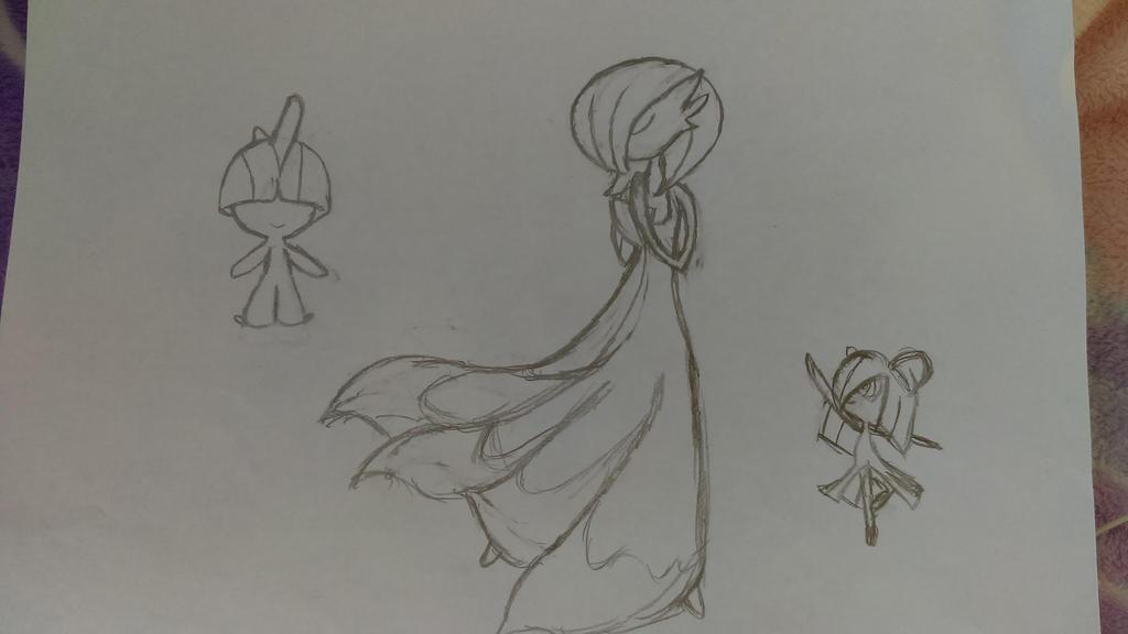 Pokemon Gardevoir Evolution Sketch by MerlaihMermaid