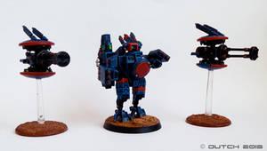 Battlesuit and Drones by Dutchkat