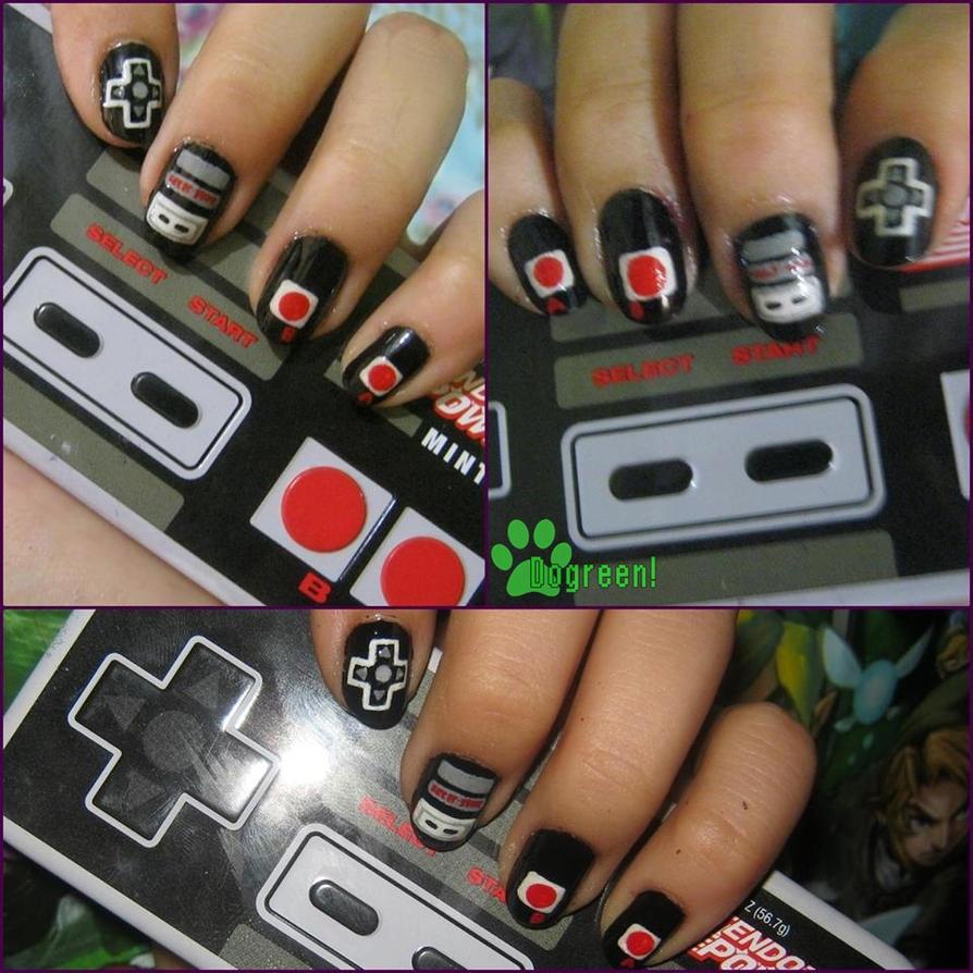 Nail Art - Nintendo NES Nails by GreenMilkshake on DeviantArt