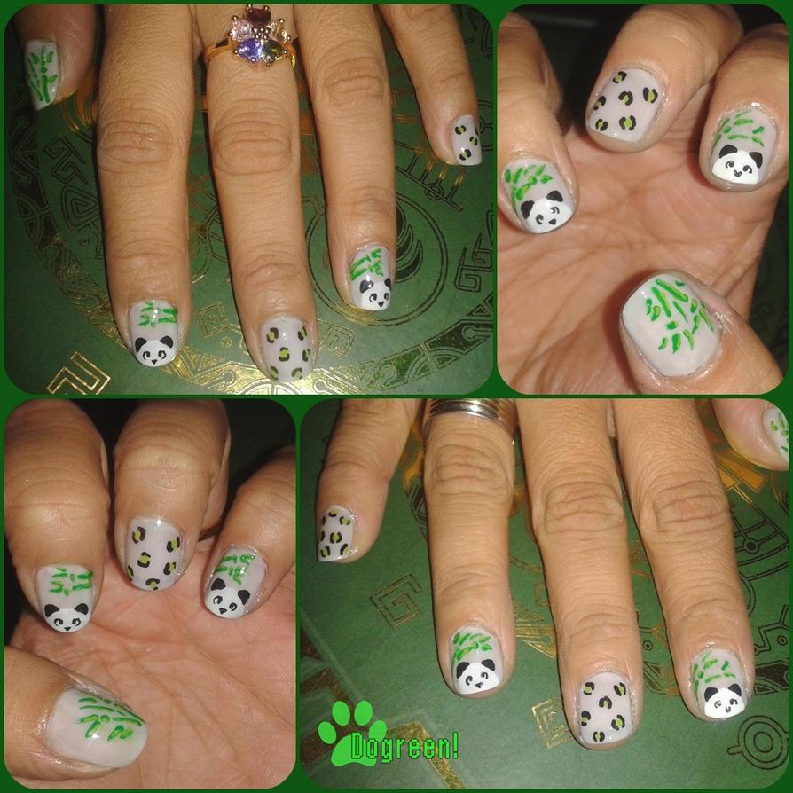 Panda Nail Art: Panda Nails By GreenMilkshake On DeviantArt