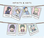 Infinite and hats