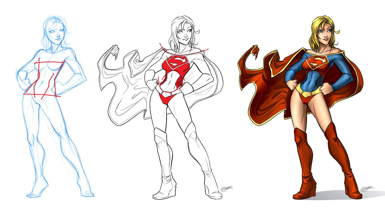 Sexy Supergirl by GarthFT